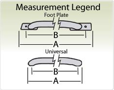 "Raptor Series 1.9""  Tubular Truck Bed Rail Stainless Steel measurement legend."