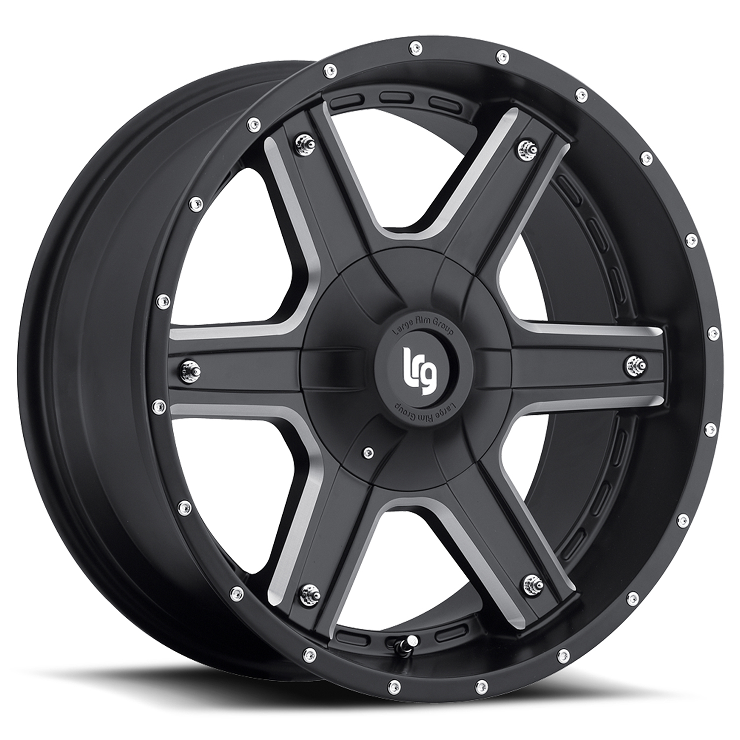 LRG Rims Series 101 Black Machined Wheels
