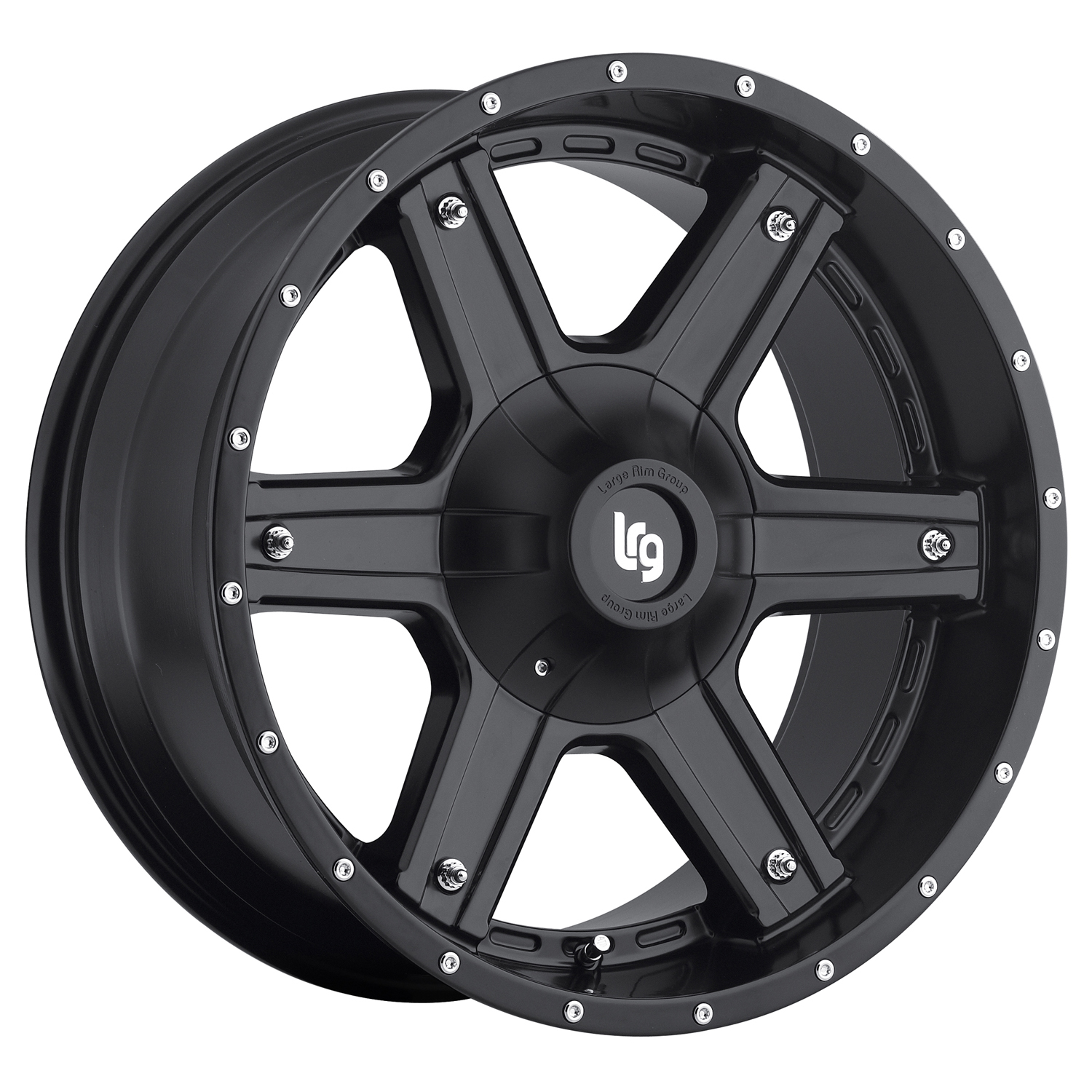 LRG Rims Series 101 Matte Black Wheels