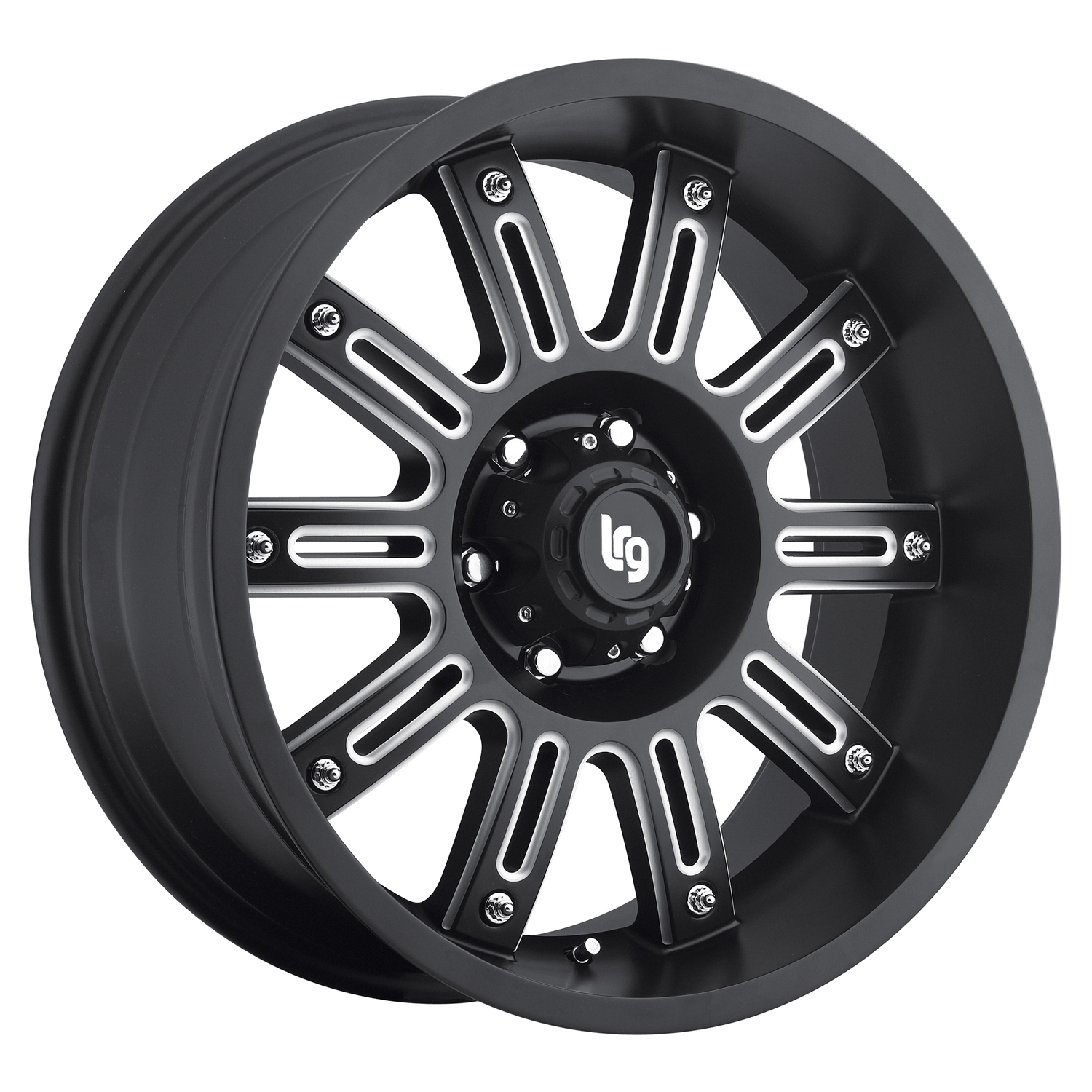 LRG Rims Series 102 Black Machined Wheels