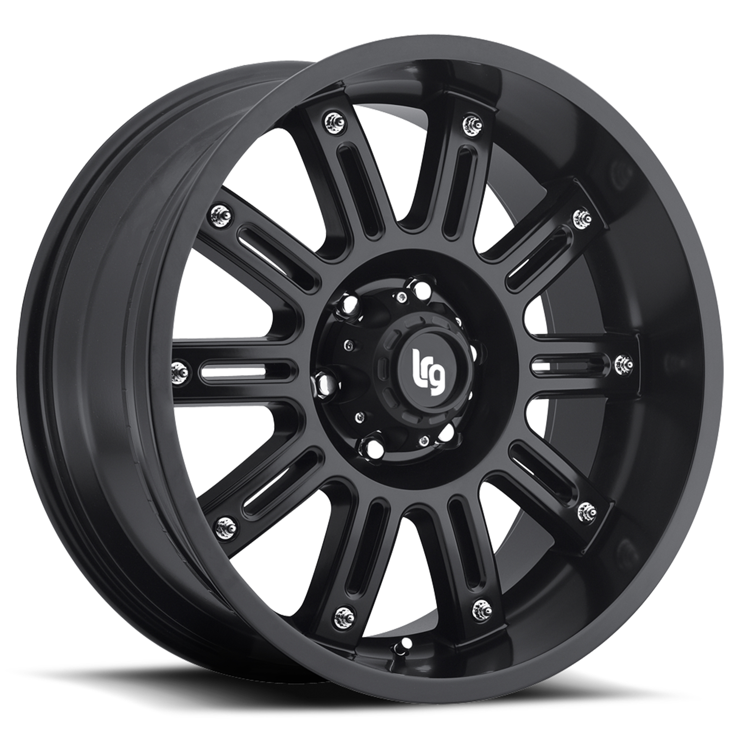 LRG Rims Series 102 Matte Black Wheels