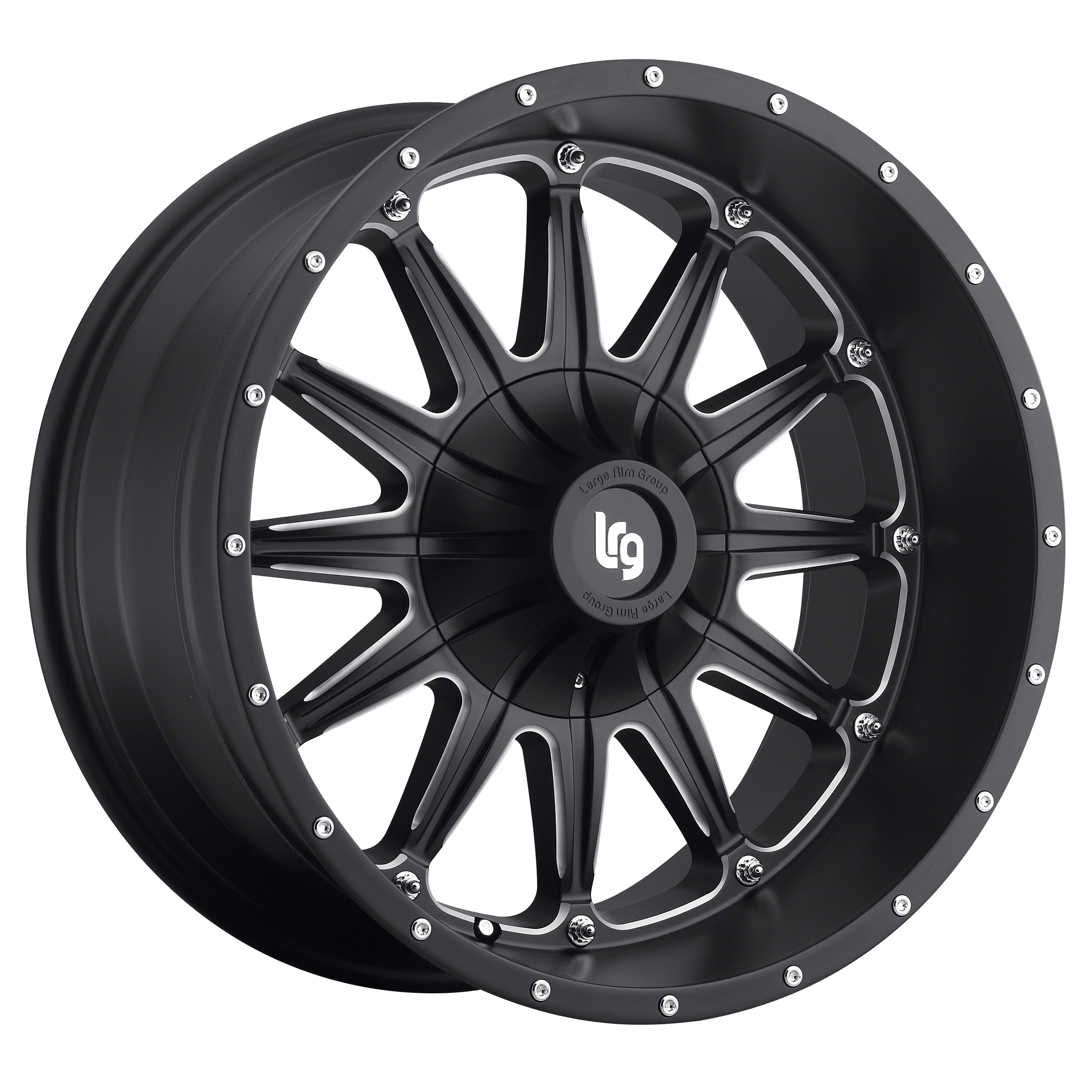 LRG Rims Series 103 Black Machined Wheels