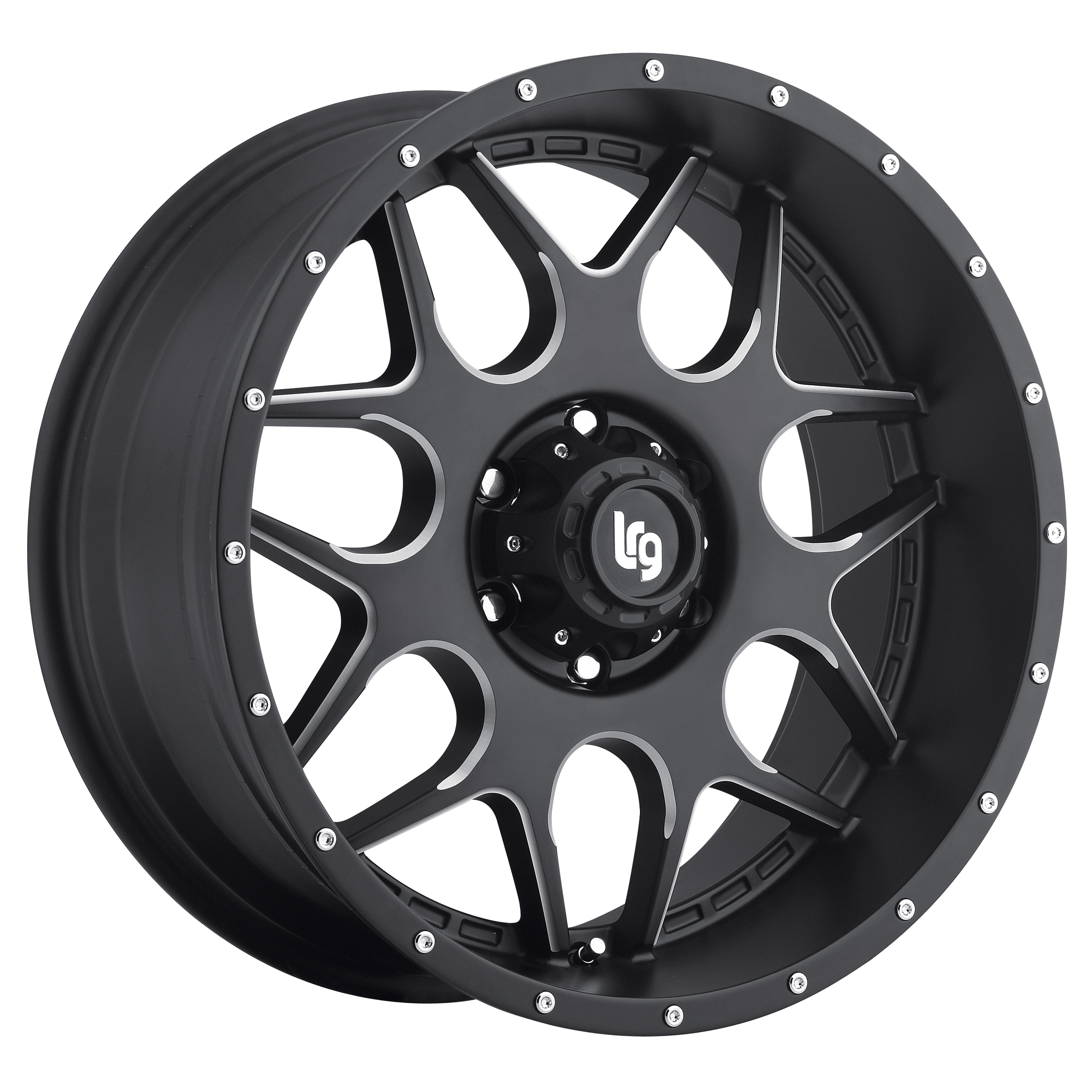LRG Rims Series 104 Black Machined Wheels