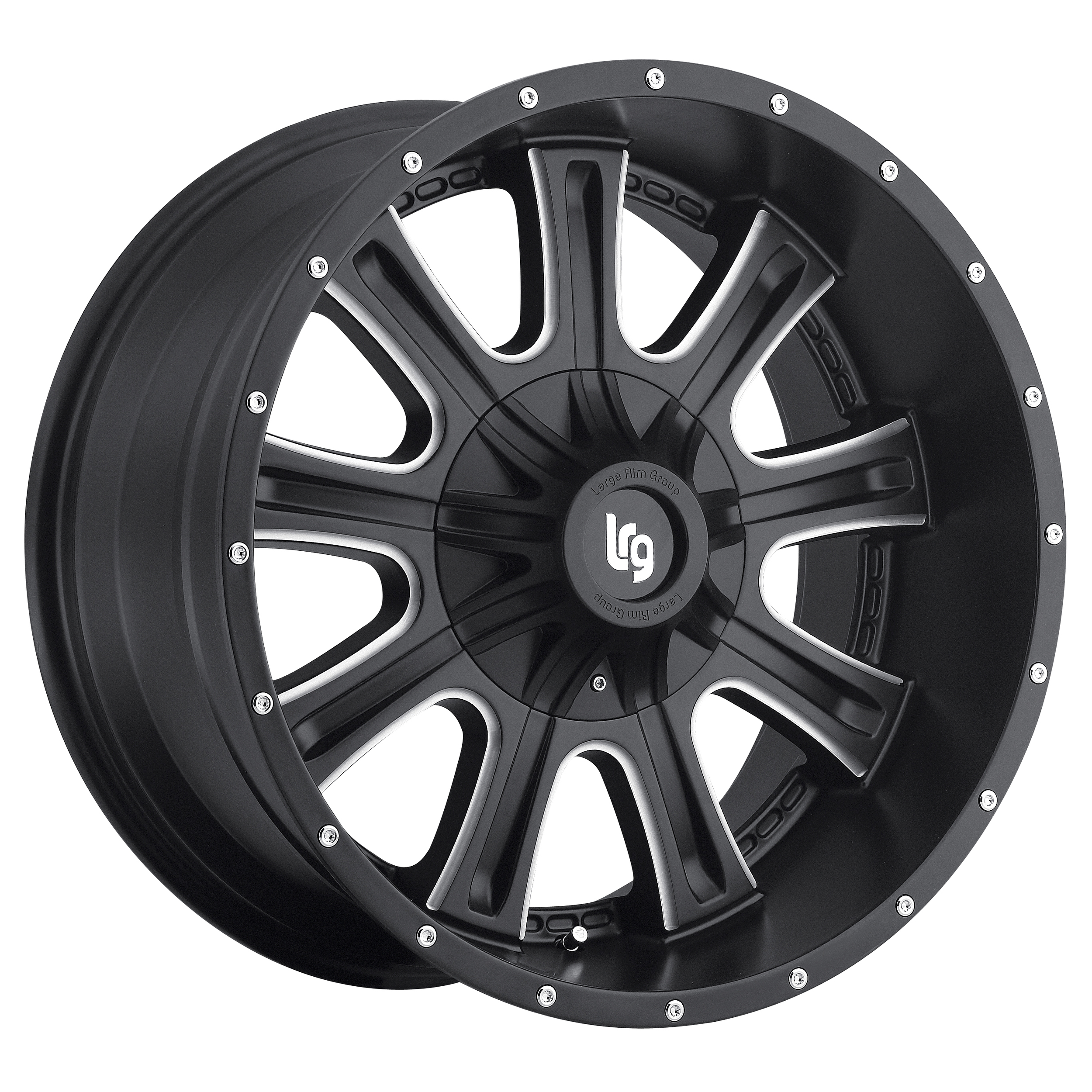 LRG Rims Series 105 Black Machined Wheels