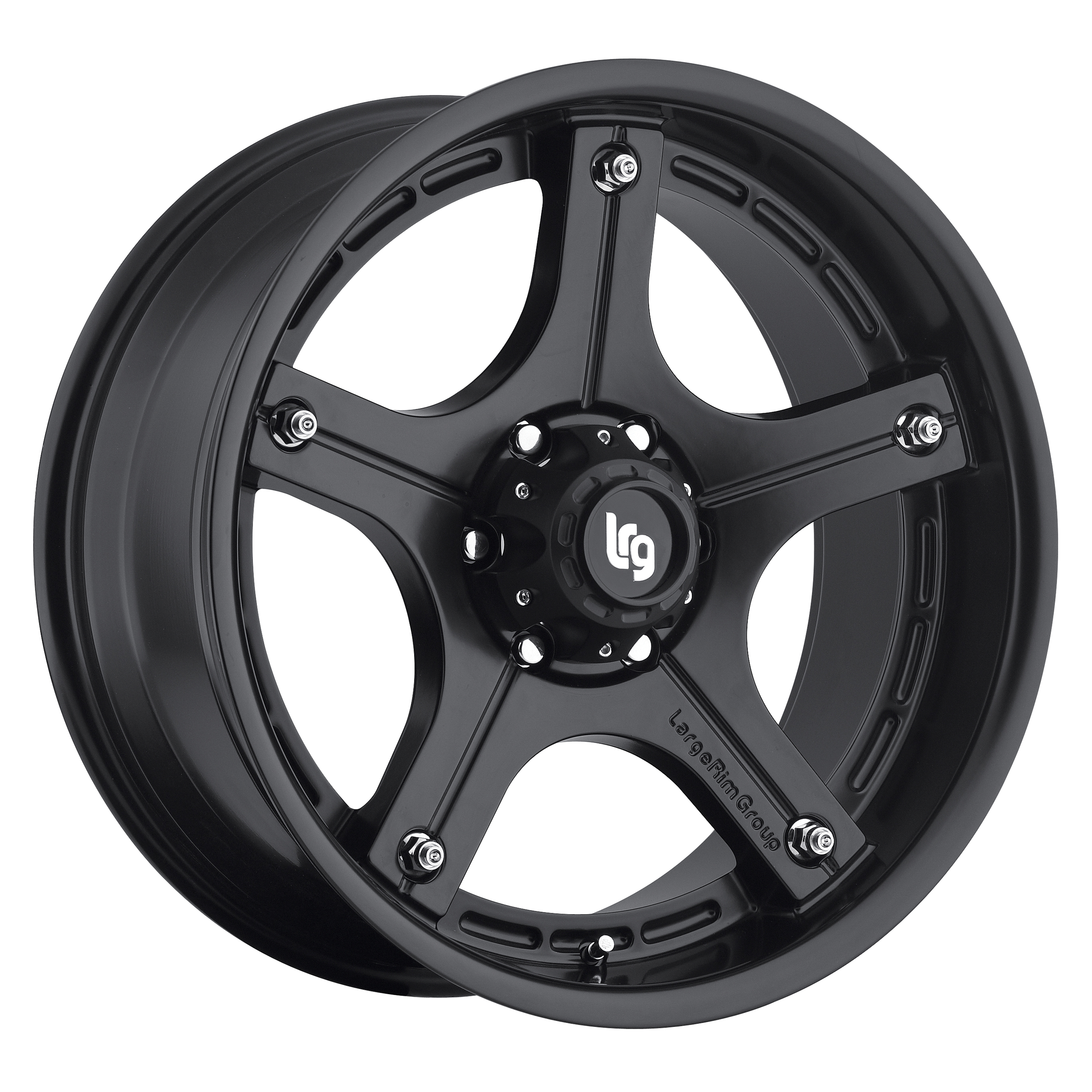 LRG Rims Series 106 Matte Black Wheels