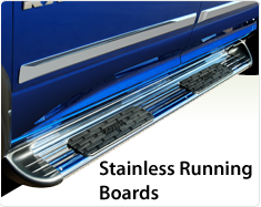 "Raptor Series 7"" (SSR) Stainless Steel Running Boards"