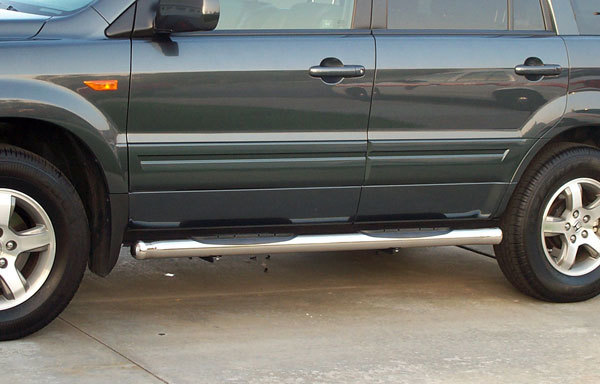 "Raptor Series 3"" Stainless Steel Round Side Step Nerf Bars"