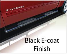"""Raptor Series 5"""" Black Cab Length Oval Tube Side Steps"""