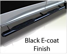 """Raptor Series 4"""" Black Cab Length Oval Tube Side Steps"""