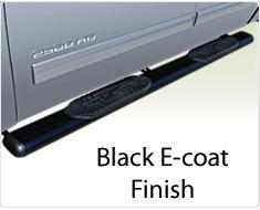 """Raptor Series 6"""" Black Cab Length Oval Tube Side Steps"""
