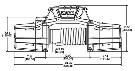 WARN ZEON 10 Platinum Self Recovery Winch - WAR-92810