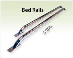 """Raptor Series 1.9"""" Tubular Truck Bed RailsStainless Steel"""