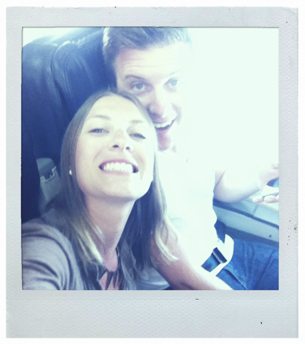 Me and Bri on the flight back.