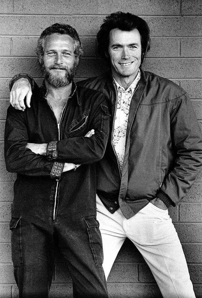 Paul Newman + Clint Eastwood