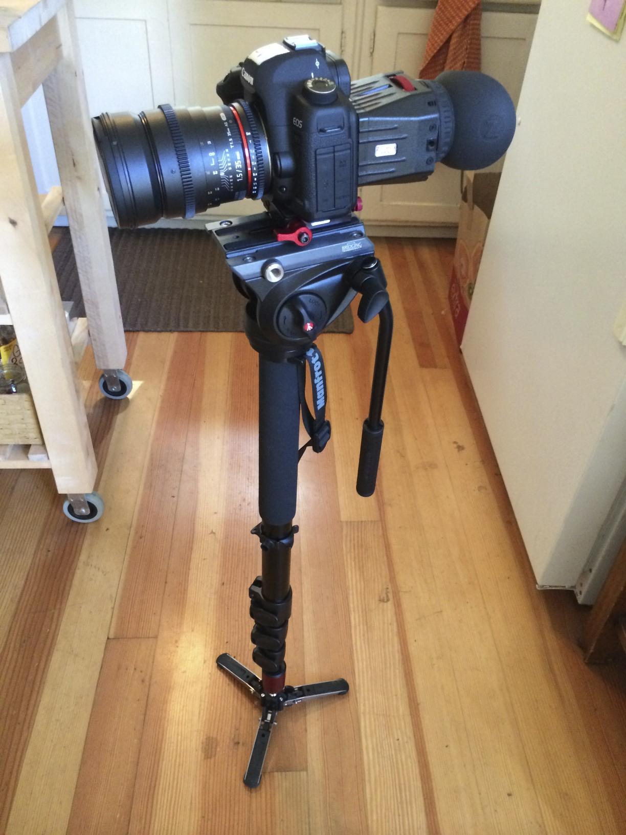 The main filming apparatus.