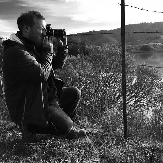 Neil shooting some black and white film stills on our gimbal test shoot.  #djironin    #bmcc