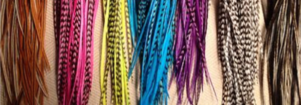 Our feather extensions are available in a range of colours