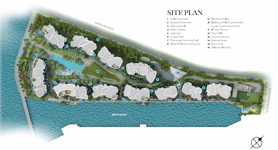Corals at Keppel Bay Site Plan and Facilities
