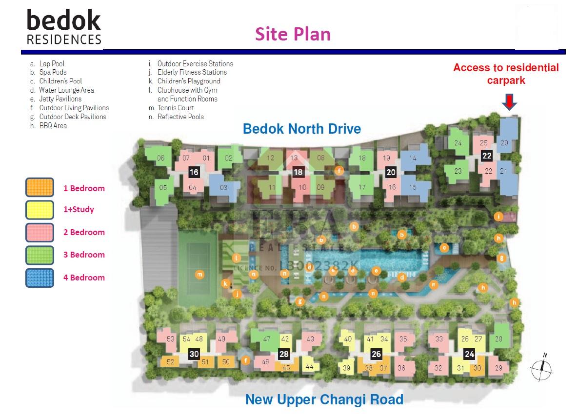 Bedok Residences Site Plan
