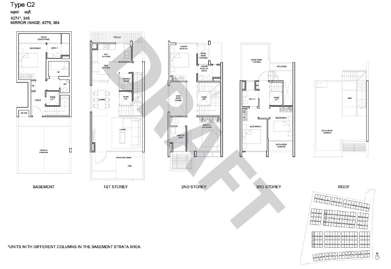 Corner Terrace floor plan - type C2