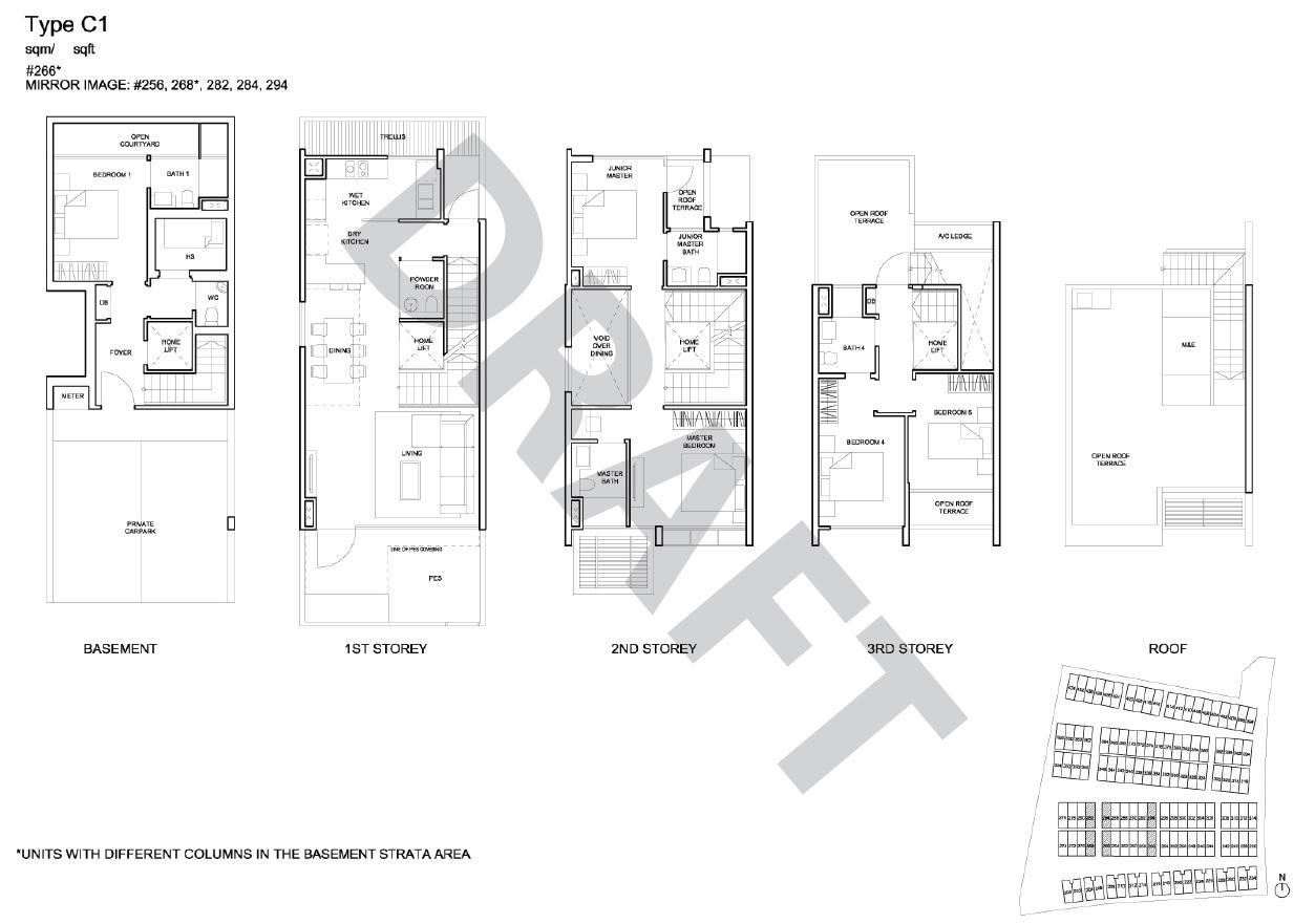 Corner Terrace floor plan - type C1