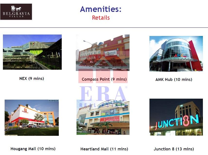 Retails Outlets - NEX   Compass Point   Ang Mo Kio Hub   Hougang Mall   Heartland Mall   Junction 8