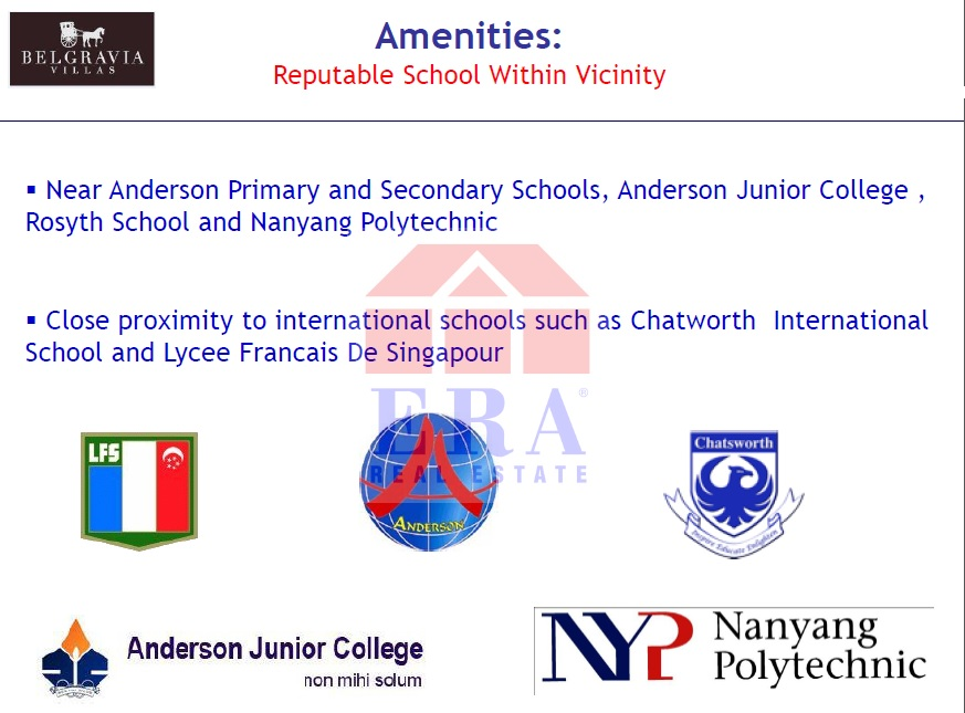 Nearby Schools and Institutions