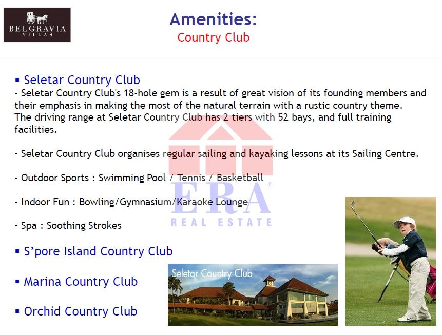 Variety and choice of Country Clubs