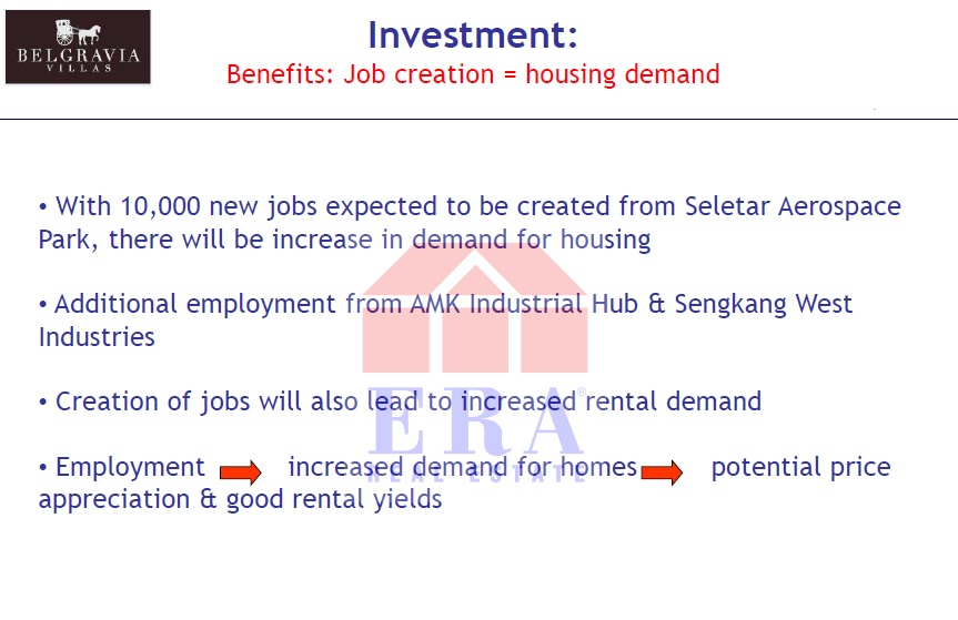 Jobs creation = increase demand for housing