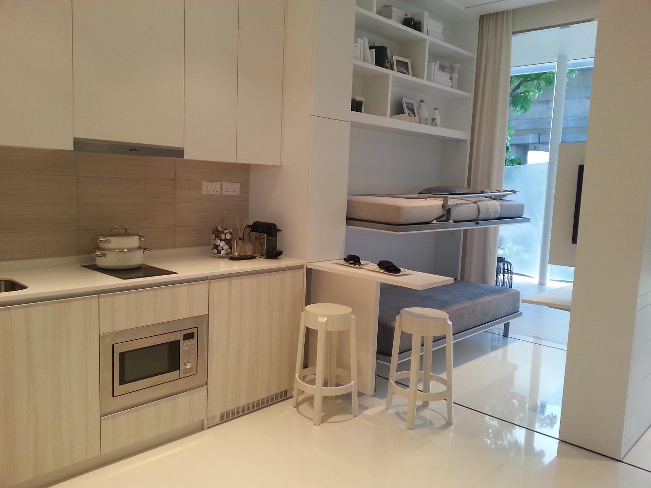 Kitchenette / bedroom perspective
