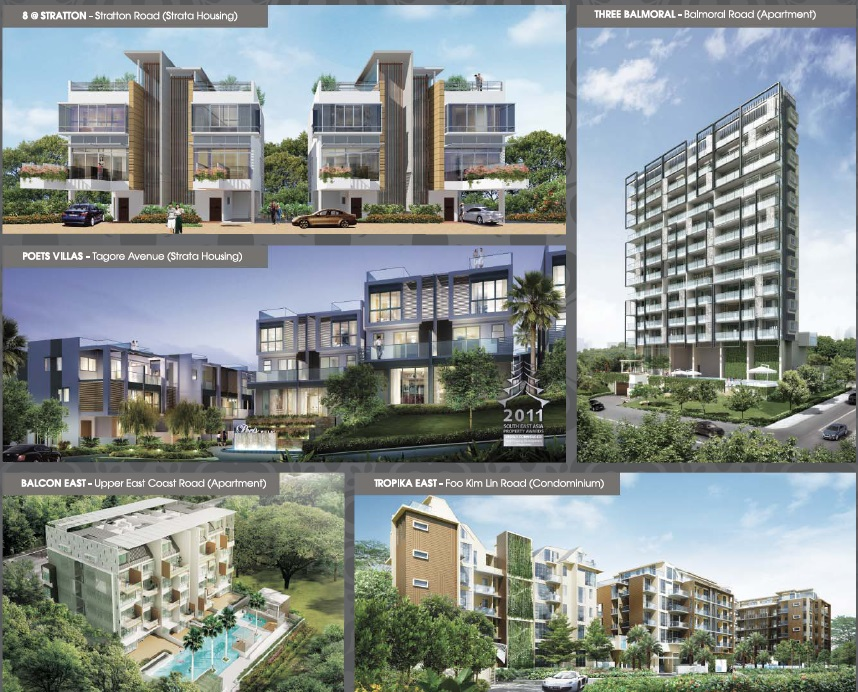 Developer's completed projects