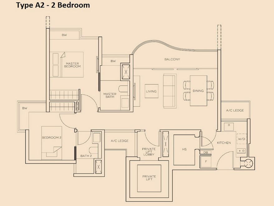 The Meyerise 2 Bedroom A2