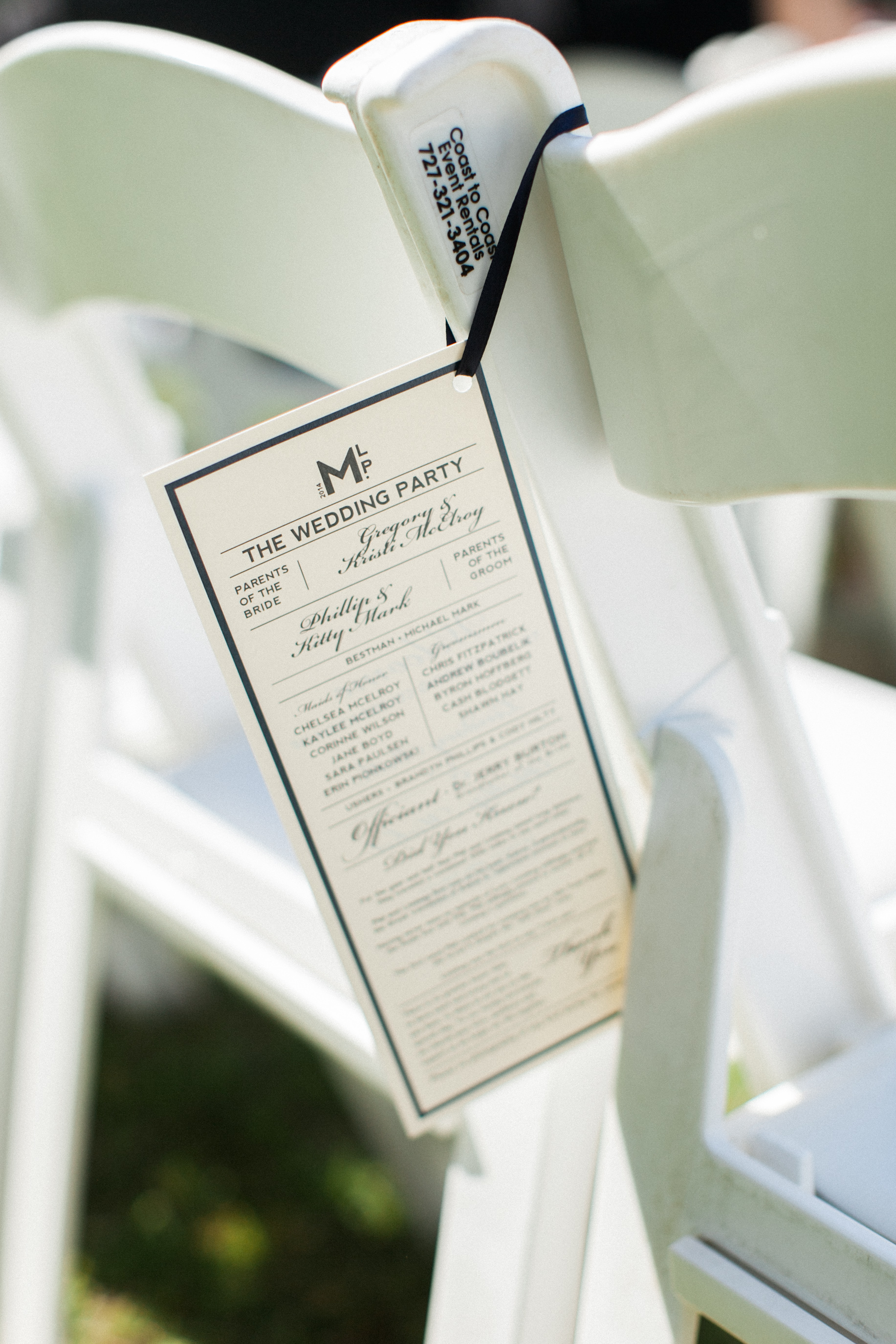 Our wedding programs that Phil made. I couldn't find exactly what I was looking for so he created them himself.