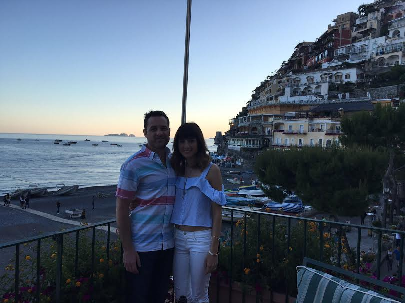 Dinner at Buca di Bacco in Positano overlooking Spiaggia Beach.