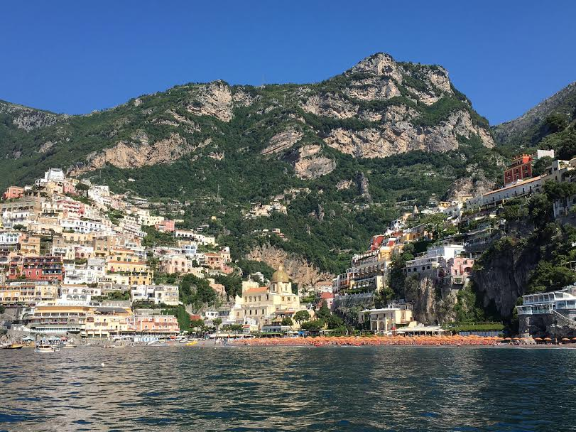 Positano from the water - Incredible!