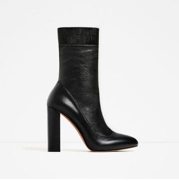Zara High Heel Stretch Leather Ankle Boots   - $159.00  ALL DAY EVERYDAY.