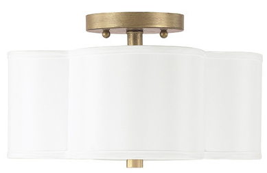 Scalloped Semi Flush Mount  - This light has been ordered and is on its way to brighten up Ruby's bedroom!