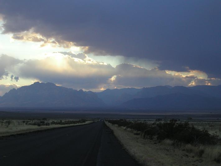 Arizona from New Mexico, Near the Border
