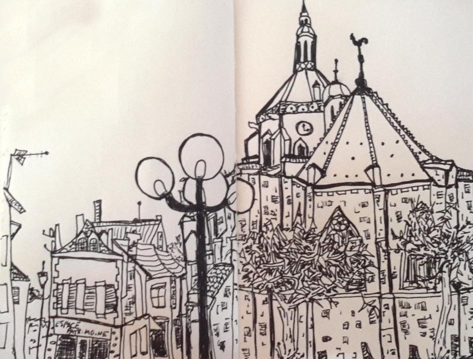 Drawing of Villenauxe-la-Grande
