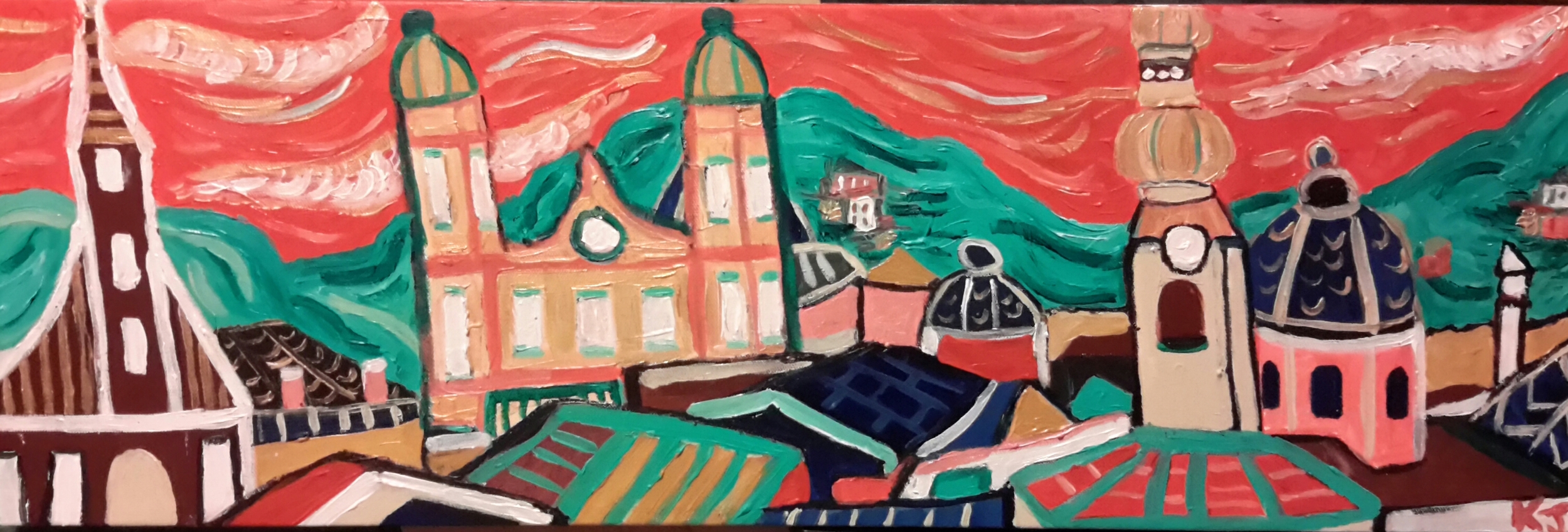 """Salzburg, Austria ... the hills are alive! 30""""x10"""", $120 for sale  here"""