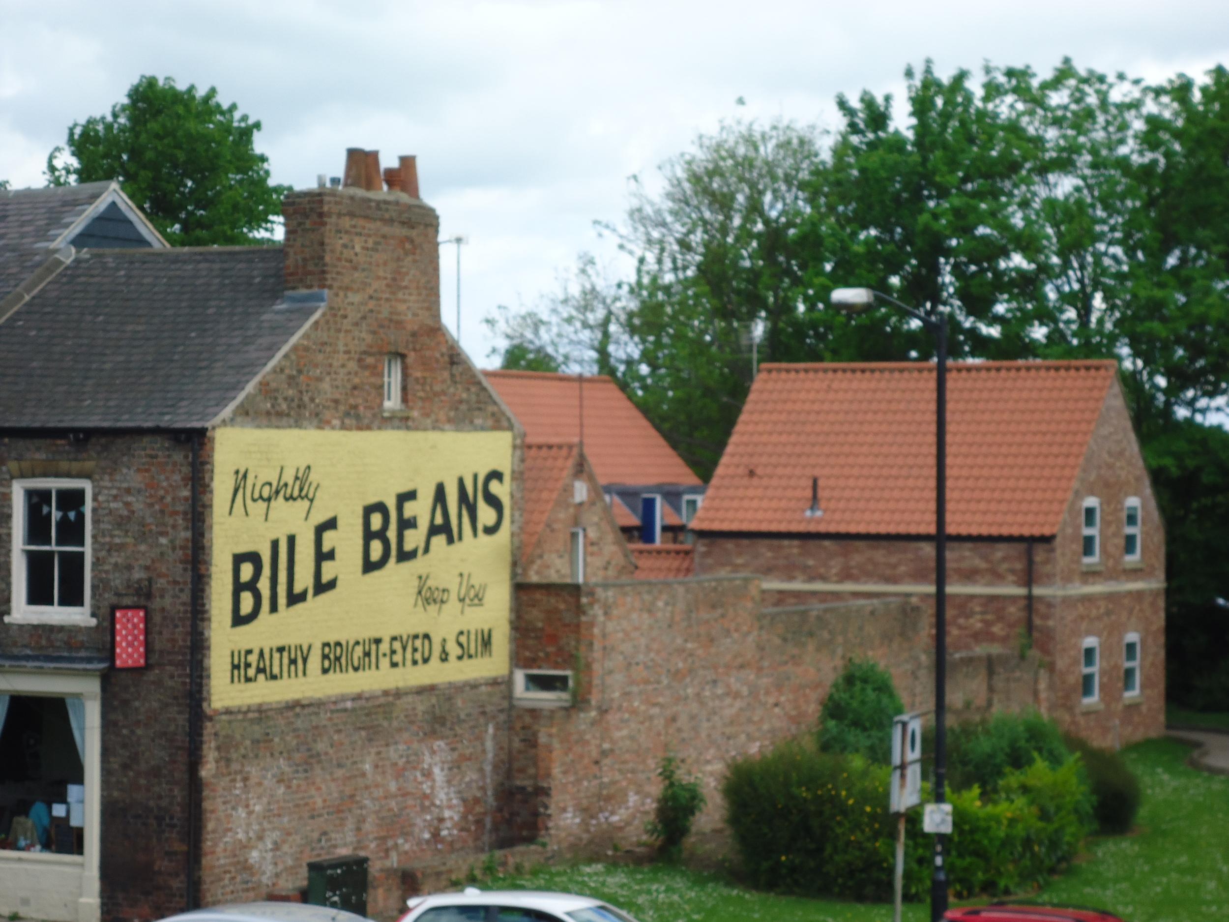 Bile Beans sign york england