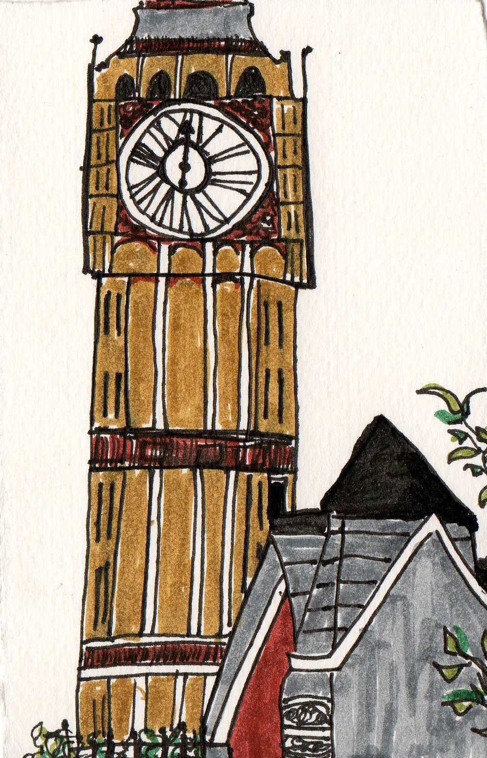 drawing big ben london