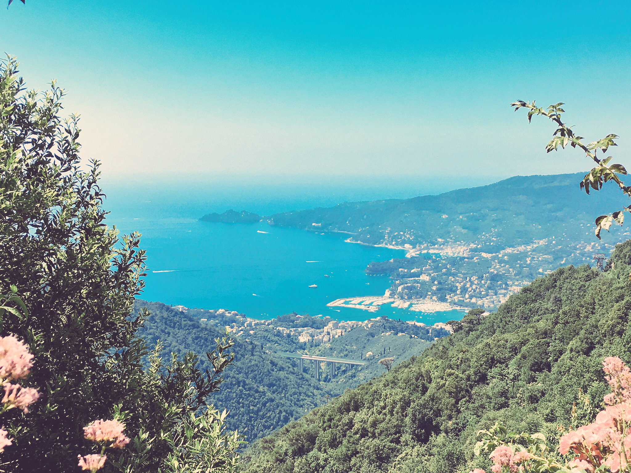 View from the Santuario di Montallegro, Rapallo, Italy