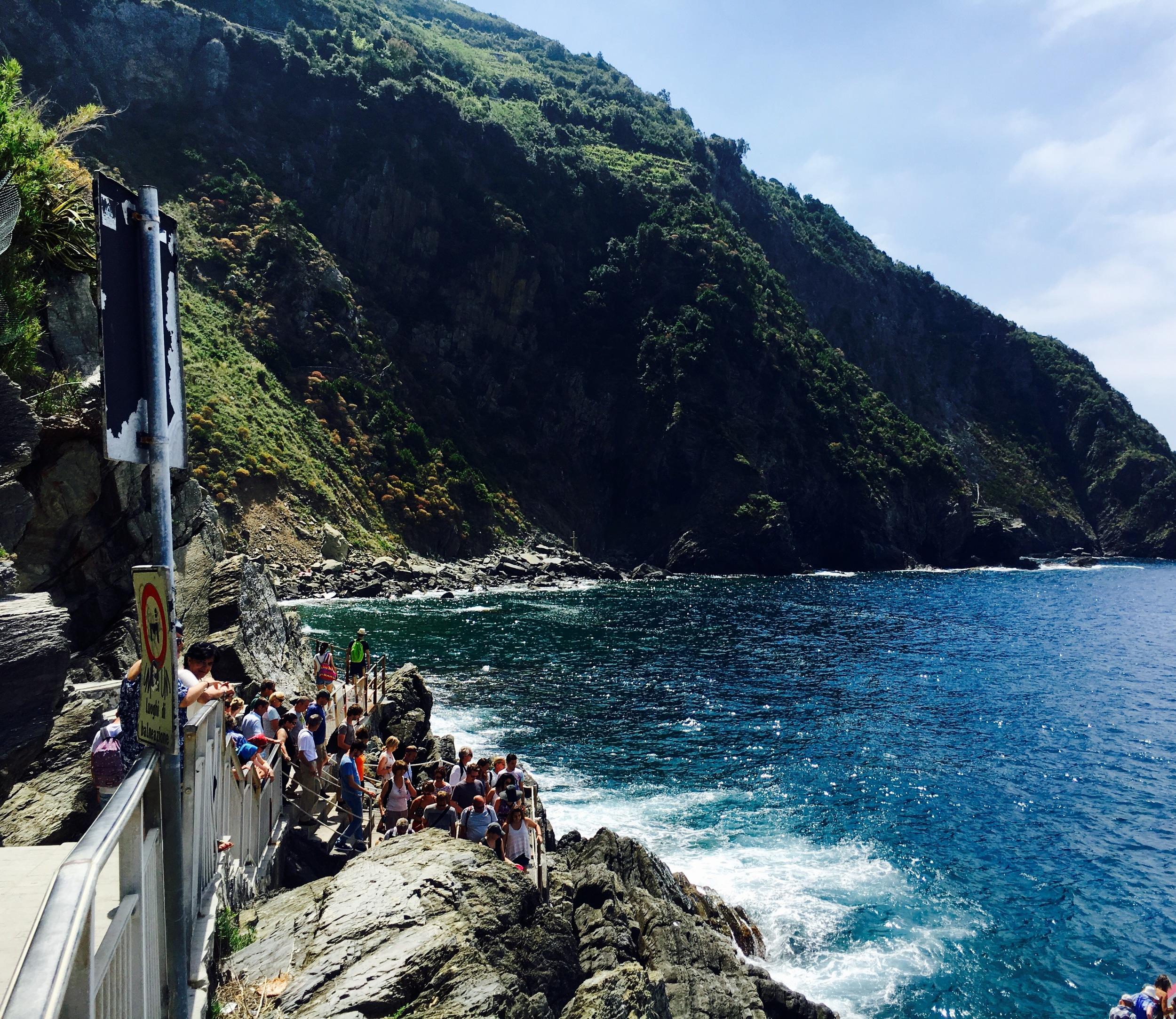 the harbor at Riomaggiore, Cinque Terre, Italy
