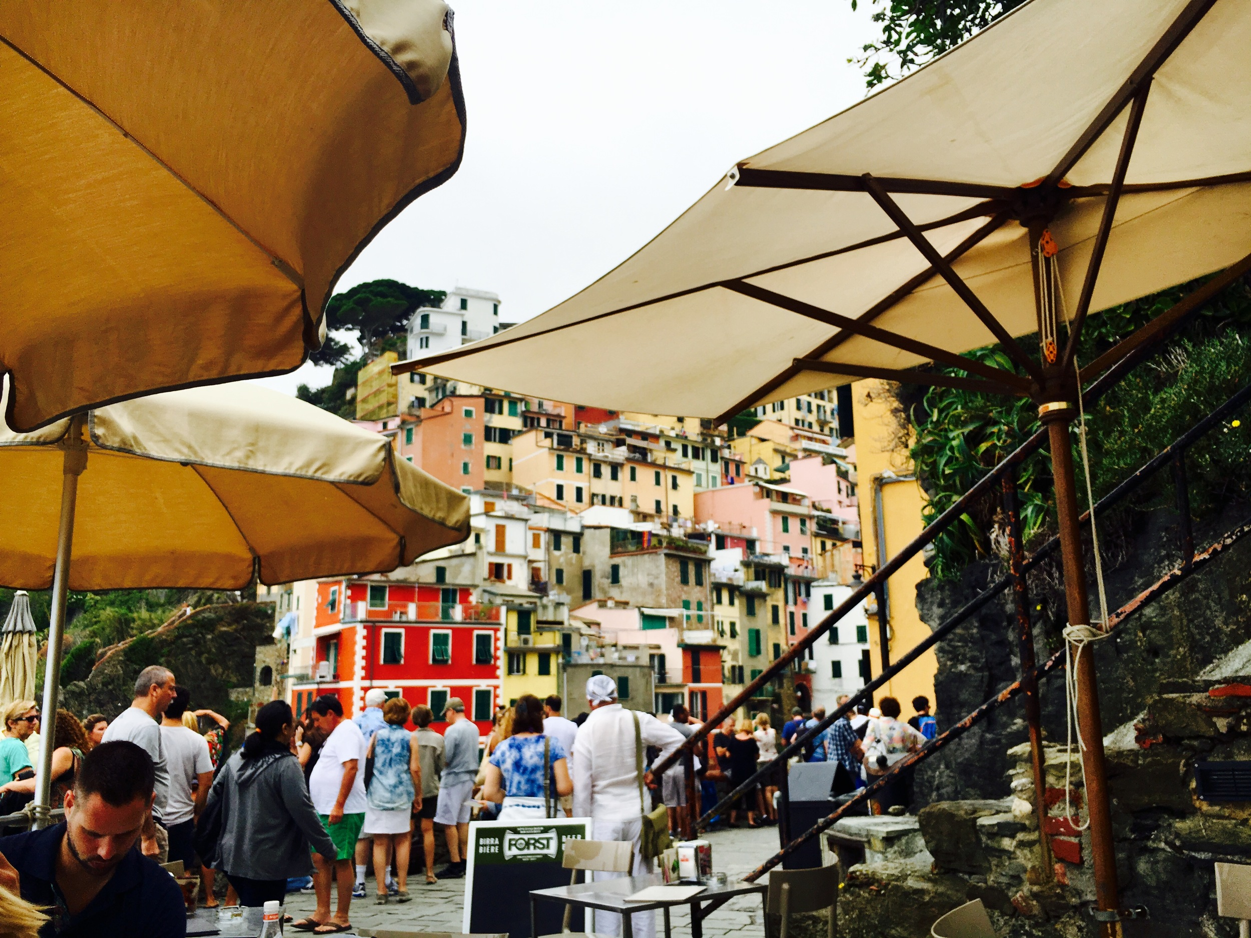 a view from a cafe in Riomaggiore, Cinque Terre, Italy