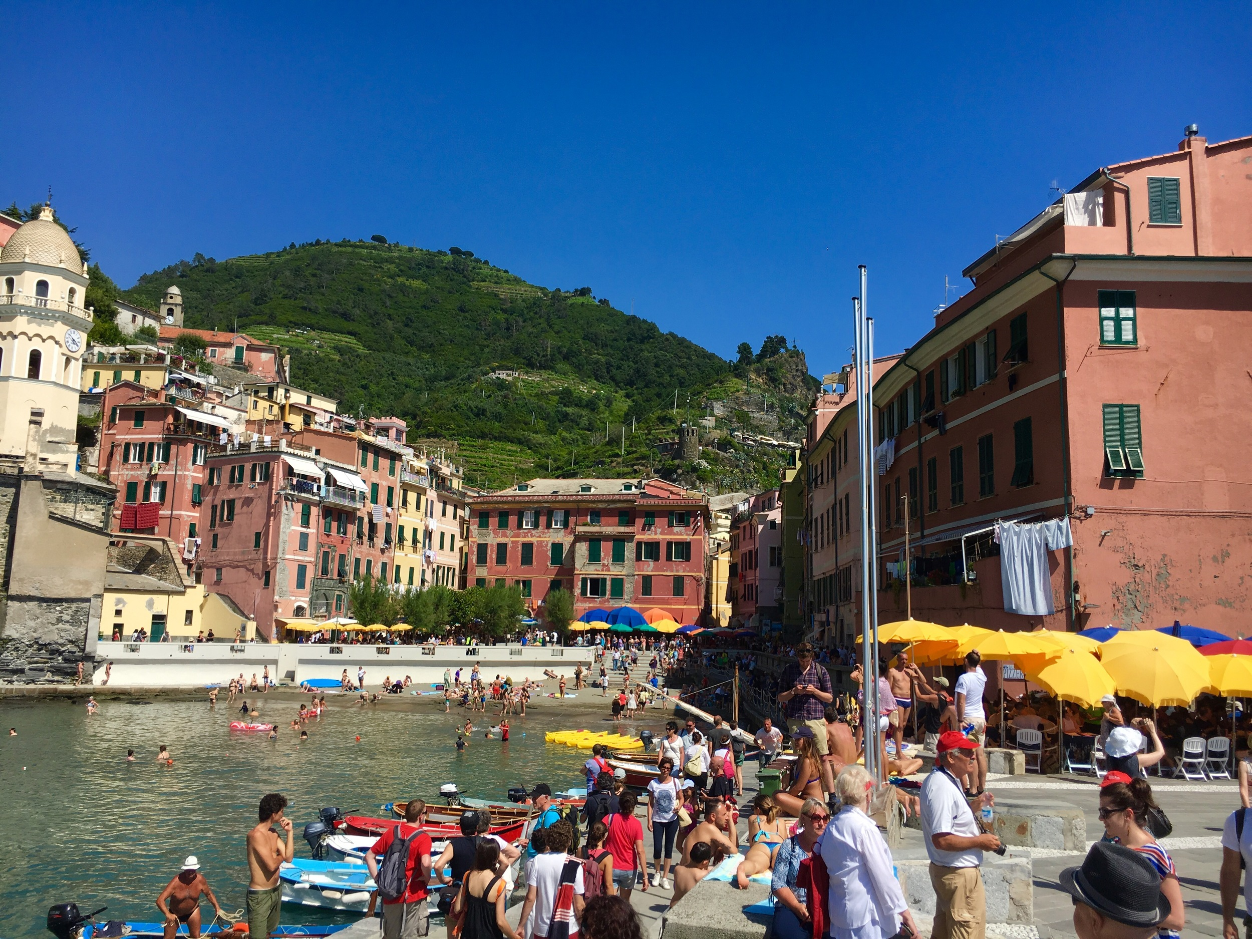 view of the town of Vernazza, Cinque Terre, Italy