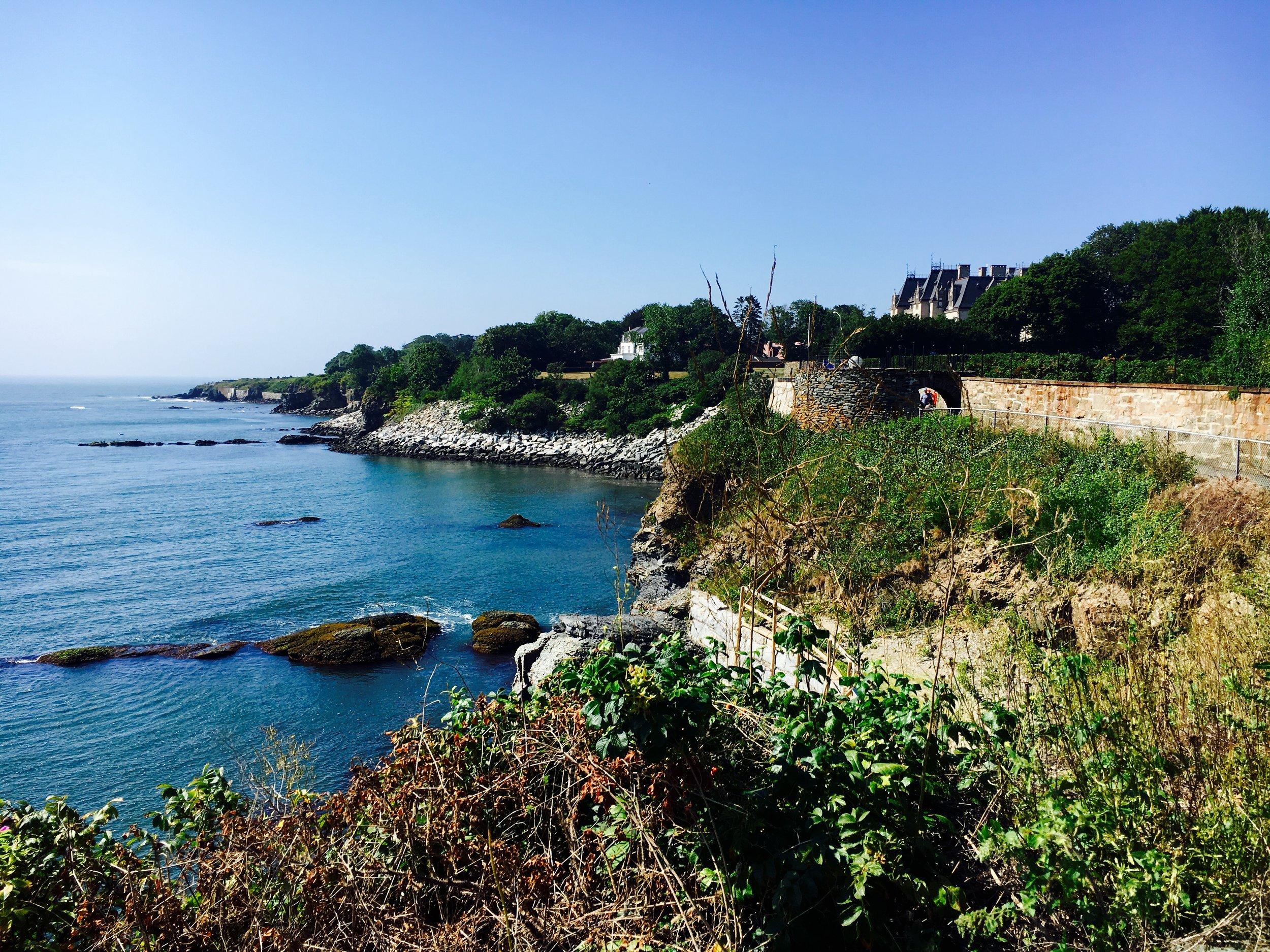 Newport's famous Cliff Walk.