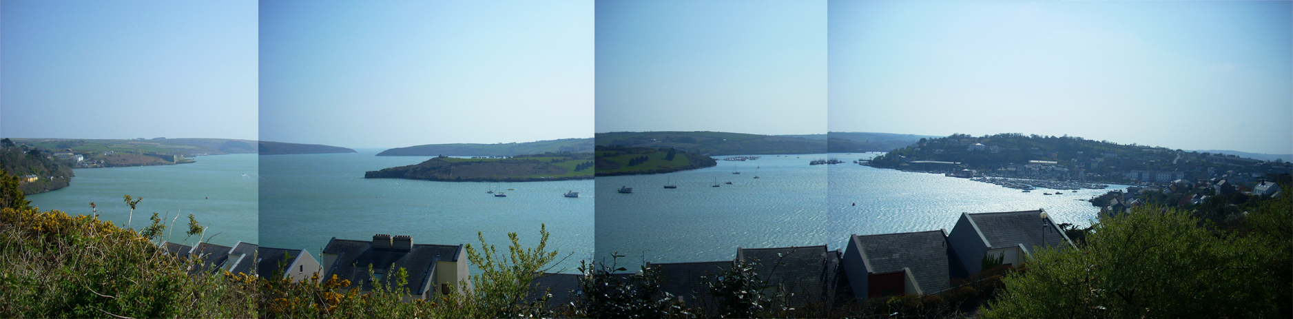 before I had a reliable panorama camera had to do this the old fashioned way, view in Kinsale