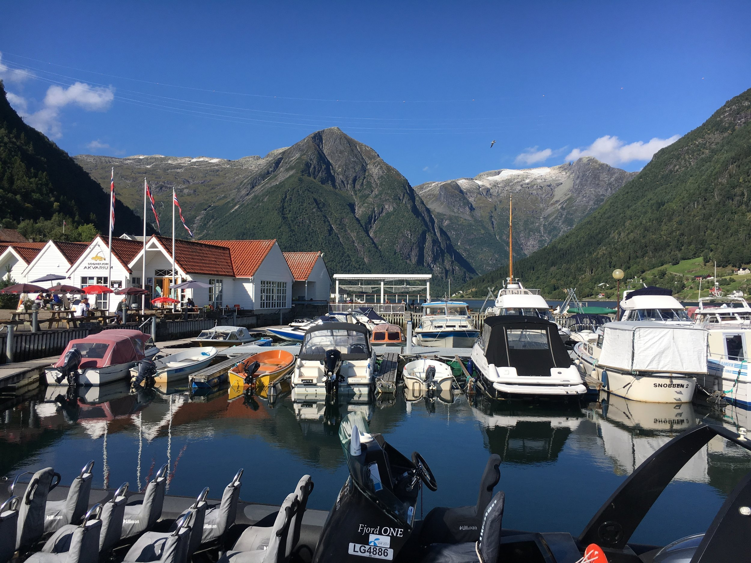 The view from the pier in Balestrand