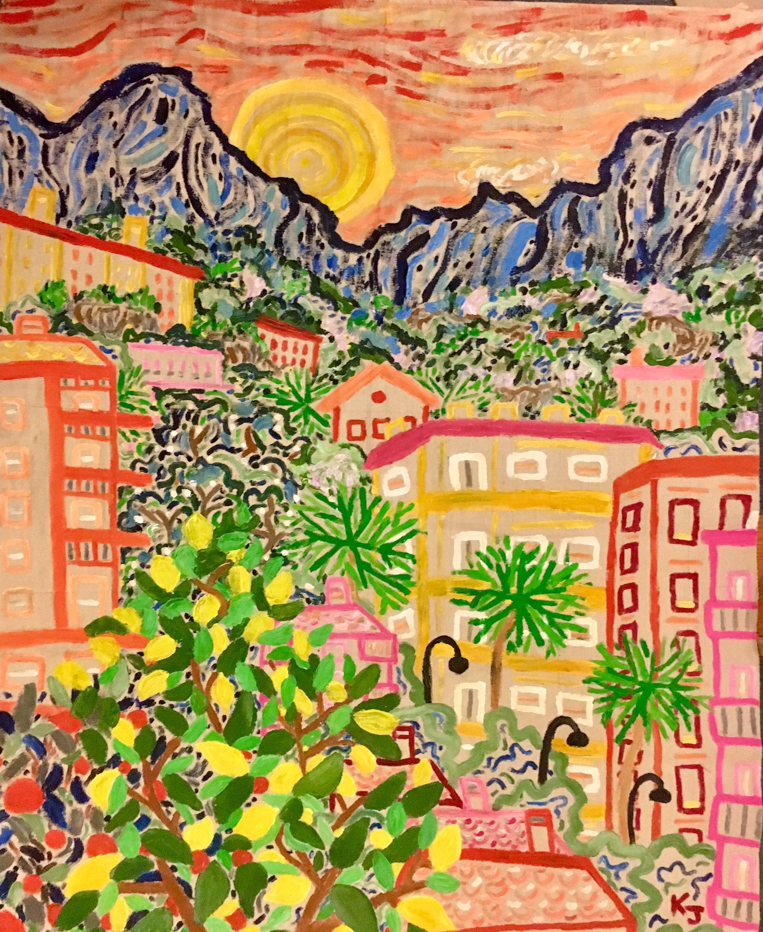 Day 4: Finished painting,  Menton, France